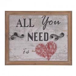 ΠΙΝΑΚΑΣ ΞΥΛΙΝΟΣ/ΜΕΤΑΛΛΙΚΟΣ 'ALL YOU NEED'